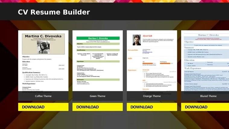 cv building software for writing great cvs cv resume builder - Best Resume Maker Software