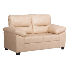 Length Of 2 Seater Sofa Small Sectional Dimensions Bharat Lifestyle Legend Leatherette Color Cream Online Price In India Buybharat L