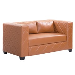 Length Of 2 Seater Sofa Red What Color Walls Bharat Lifestyle Martin Leatherette Rust Brown Online Price In India Buybhara