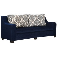 Sofa Blue Color Table Behind Height Bharat Lifestyle New Alisa Fabric 3 Seater Online Price In India Buybharat Lifest