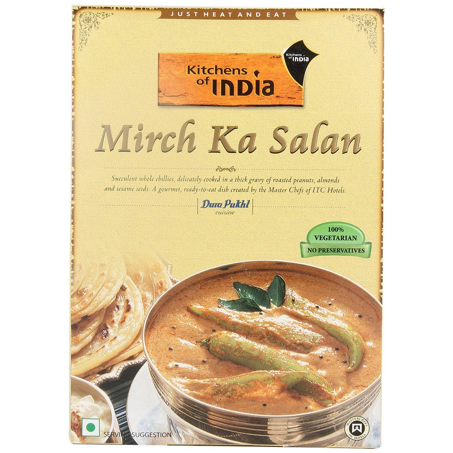 kitchens of india kitchen and bath remodel buy ready meal mirch ka salan 285g box at online grocery shop hypercity fresh