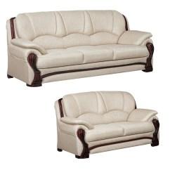 Ivory Sofa Set Blue Furniture Baci Living Room