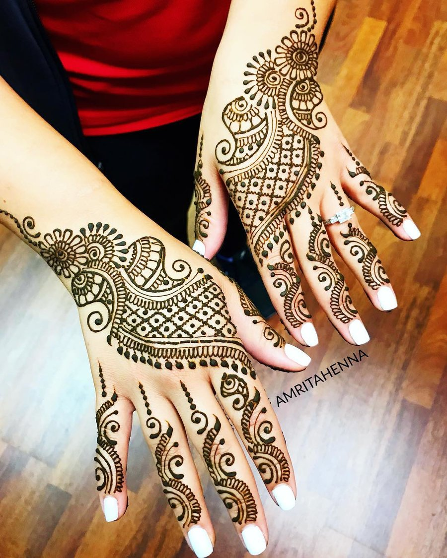 Simple Arabic Modern Mehndi Design 2018