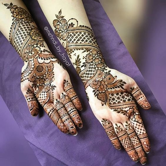Arabic Pakistani Full Hand Mehndi Designs
