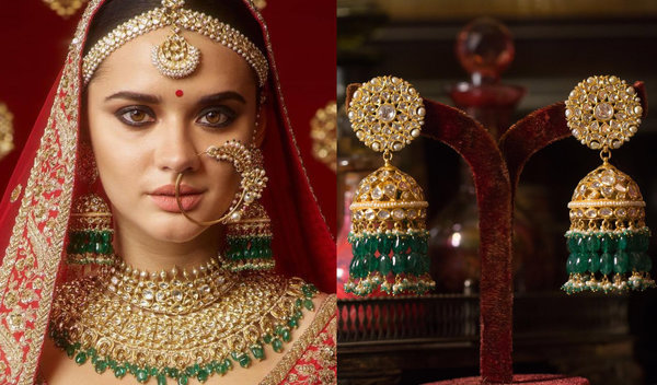 (7)we can also wear with designer saree on festive, wedding, ceremony and party. 35 Dazzling Jhumka Designs For Brides To Take Inspiration From Shaadisaga