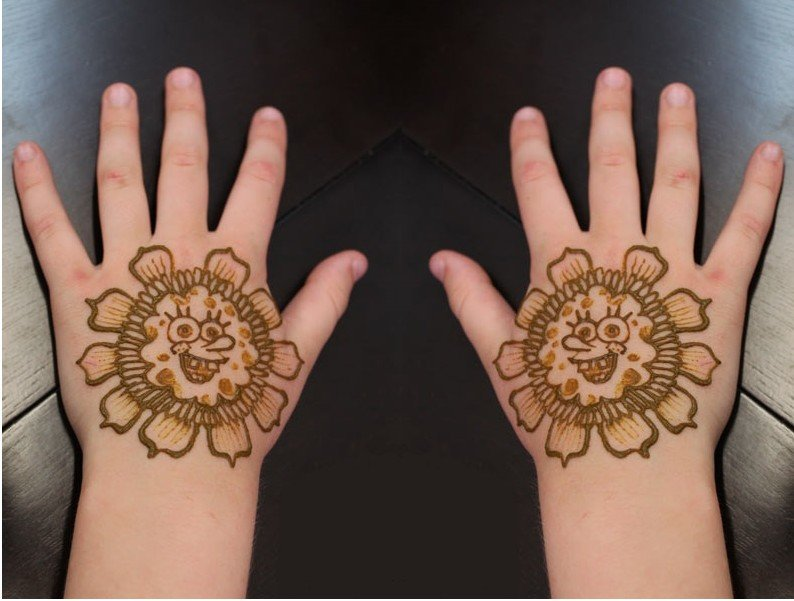 Simple Mehndi Designs For Kids Hand