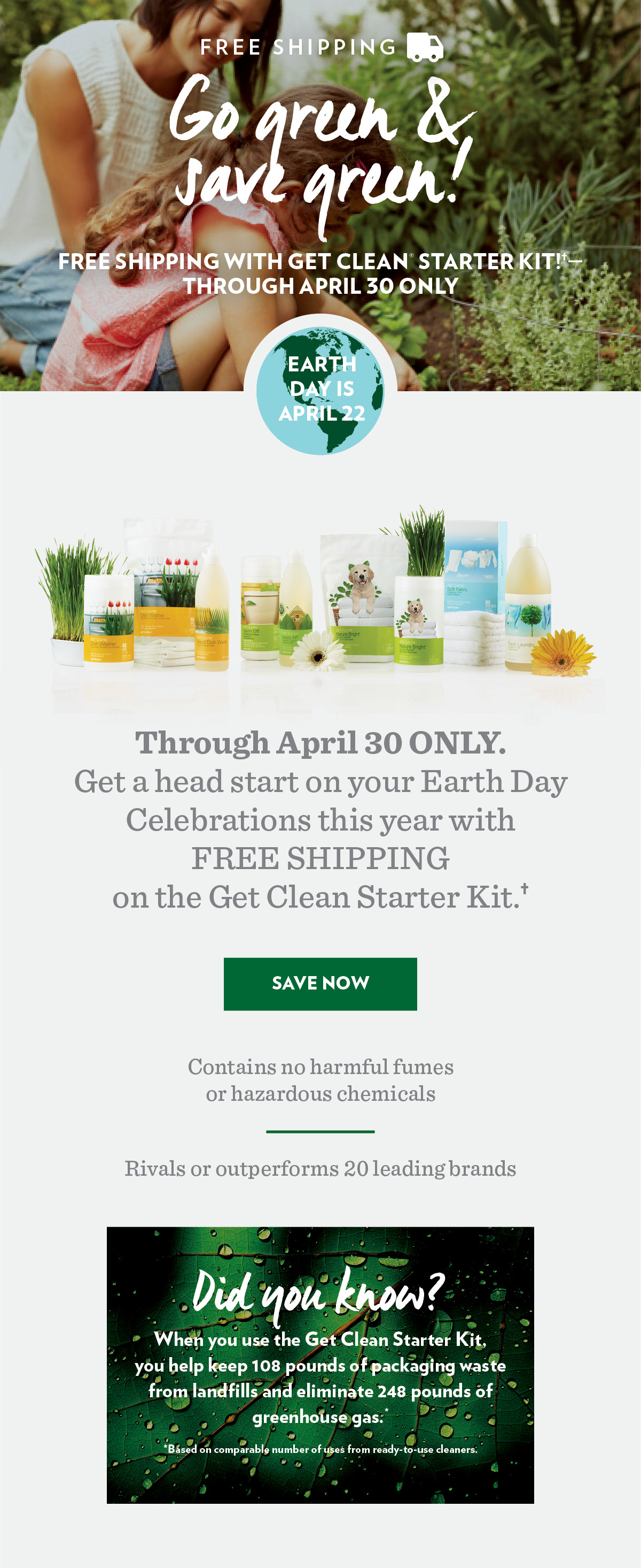 Get Clean® for Spring!