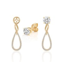 Diamond Dangle Earring Jackets at Shane Co.