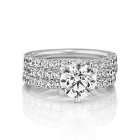 Triple Band Round Diamond Wedding Set | Shane Co.