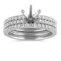 Triple Band Round Diamond Wedding Set at Shane Co.