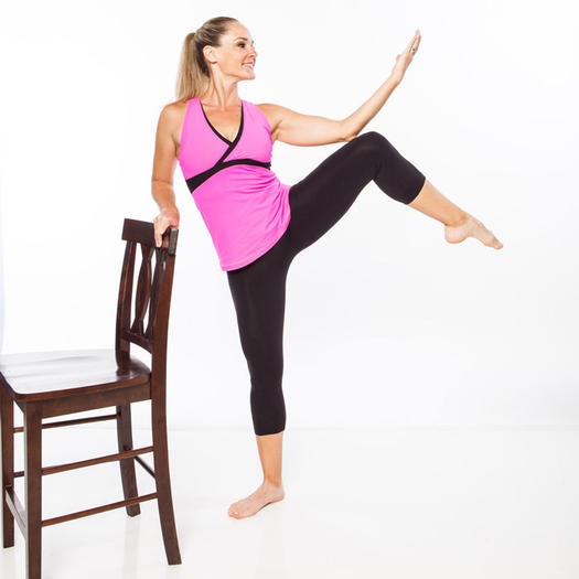 fitness ball chair plastic weave garden chairs home barre workout: ballet belly, buns, and thighs | shape magazine