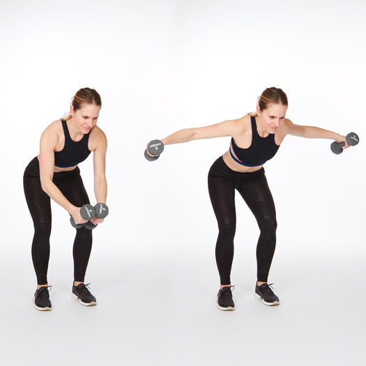 rear delt raise exercise at home for back fat