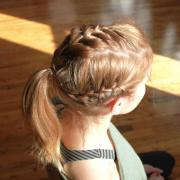 easy hairstyles gym