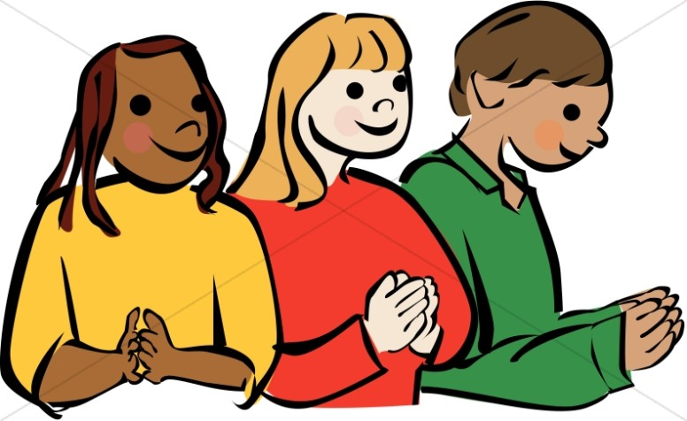 culturally diverse children praying