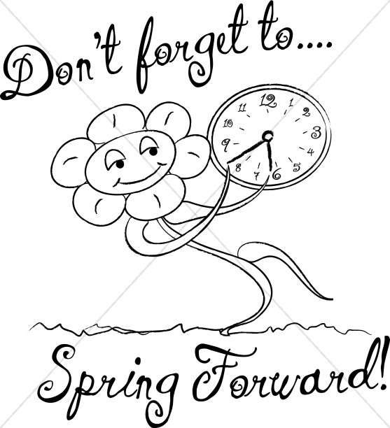 tri fold beach chair ice fishing reviews spring forward with words in black and white | christian calendar clipart