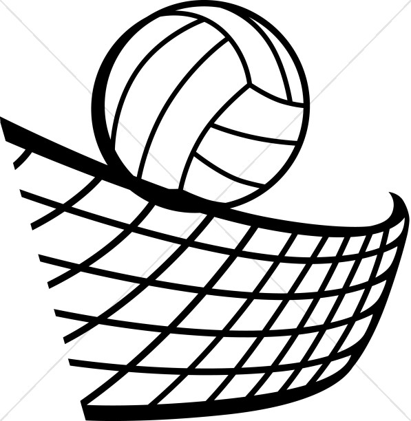 Volleyball in Black and White