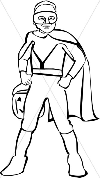 boy superhero clipart harvest