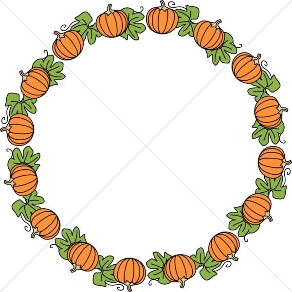 Fall Pumpkin Patch Wallpaper Round Pumpkin Border Fall Borders