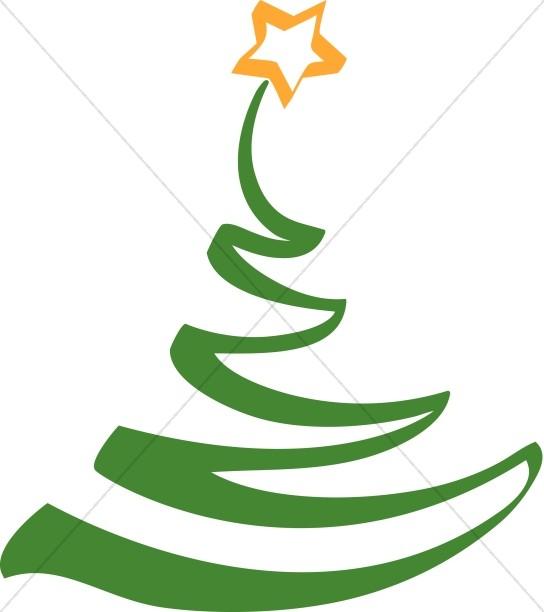 simple artistic christmas tree