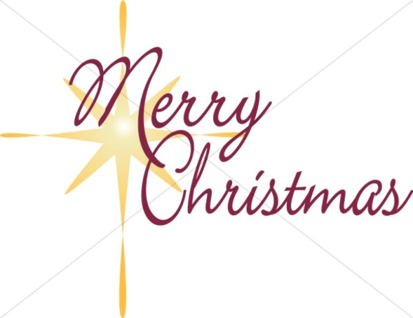 christian christmas word art