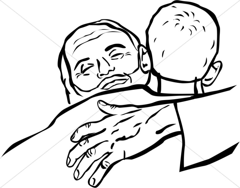 The Father Embraces the Prodigal Son Clipart