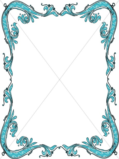 Cute Designs Printer Page Wallpapers Blue Victorian Border