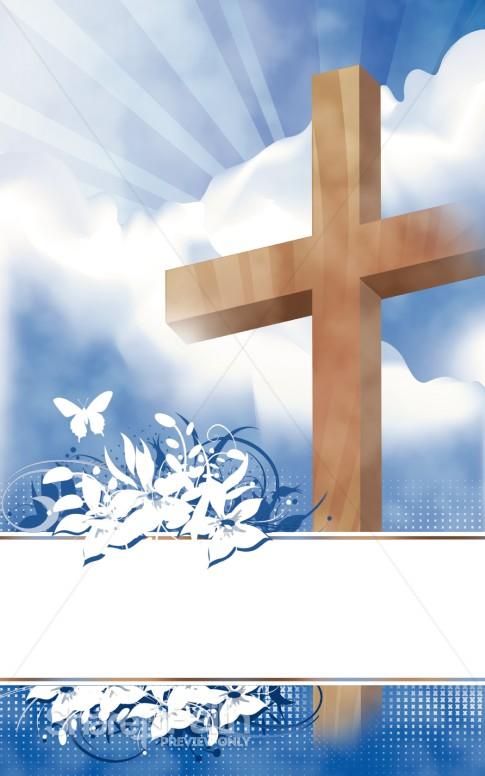 Easter Program Cover Cross Bulletin Covers