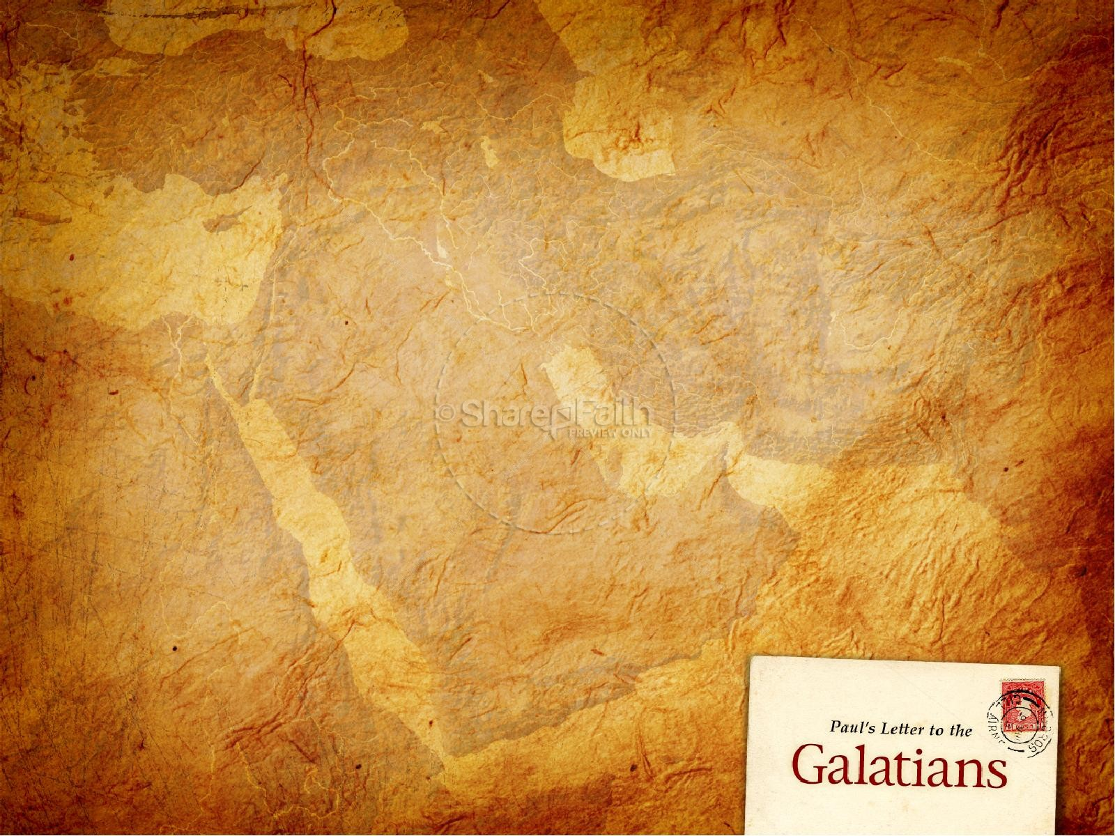 Letter To The Galatians PowerPoint Template New