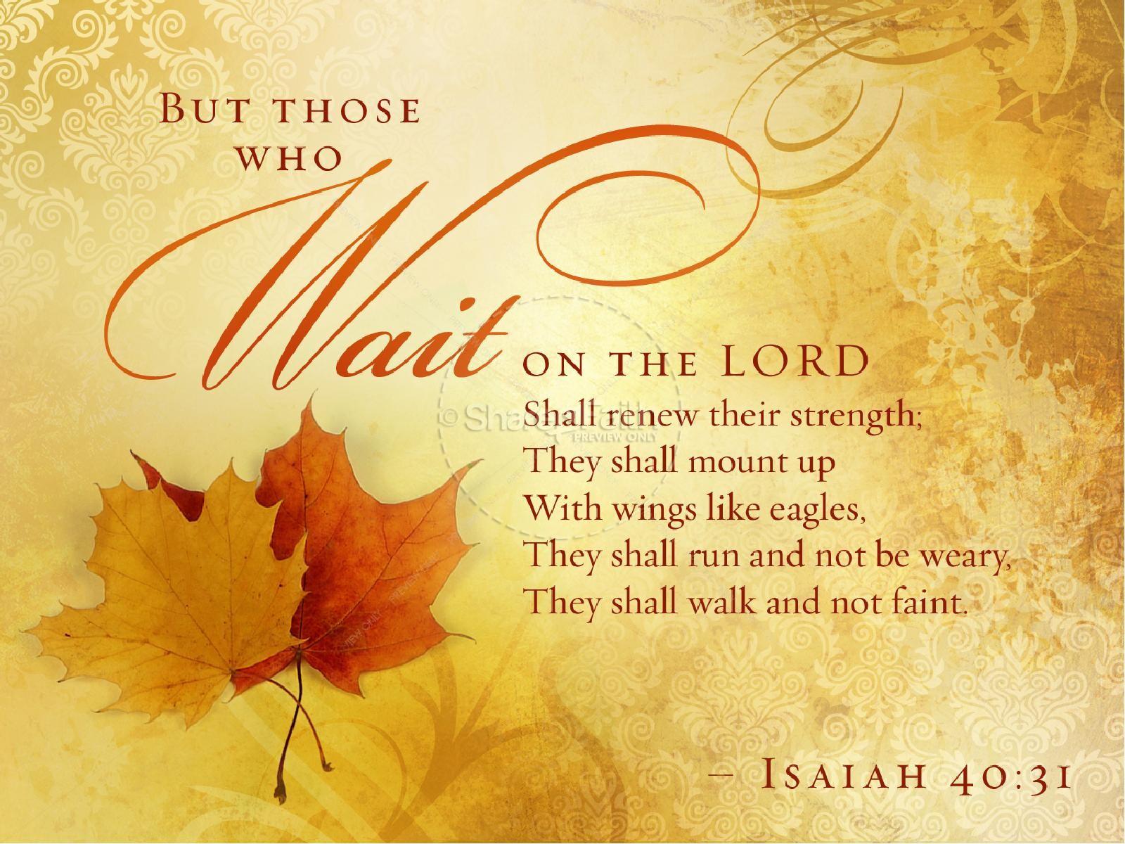 Autumn Fall Live Wallpaper Wait On The Lord Sermon Presentation Fall Thanksgiving