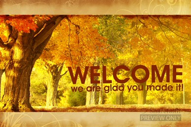 Christian Wallpaper Fall Offering Autumn Woods Announcement Background Slide Church