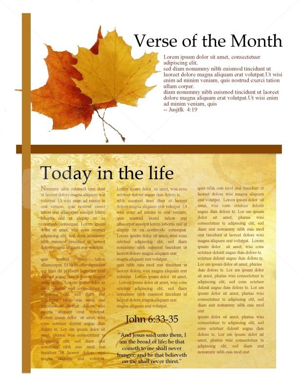 Newsletter Church Templates Word