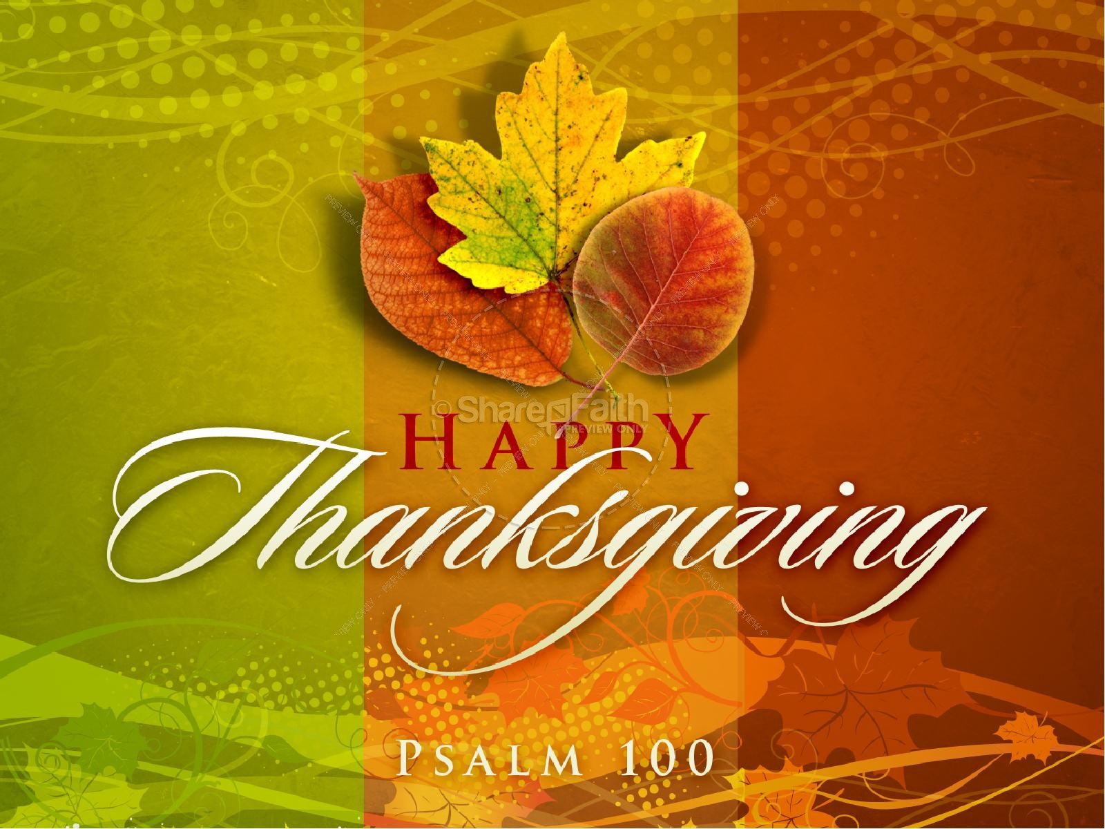 Fall Leaves Wallpaper Powerpoint Background Happy Thanksgiving Powerpoint