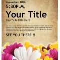 Womens retreat church event flyer template flyer templates