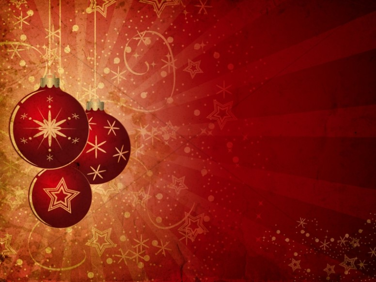 Christmas Ornament Background Slide  Worship Backgrounds
