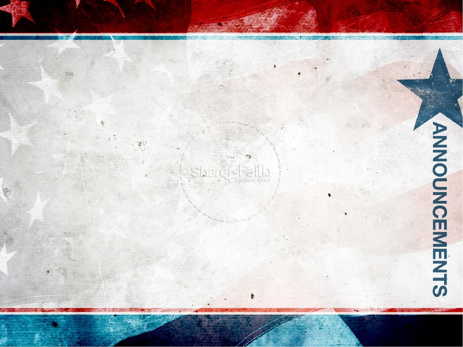 american flag powerpoint template free