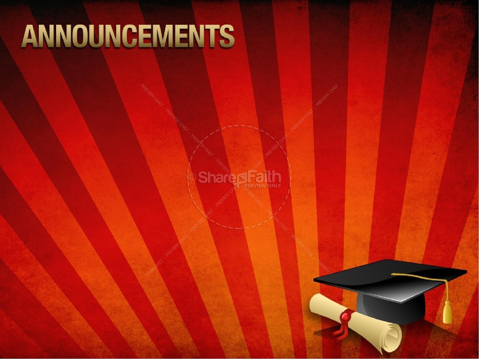 graduation rays program cover