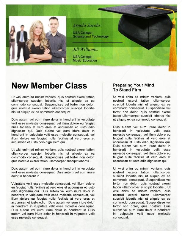 Graduation Newsletter Template Newsletter Templates