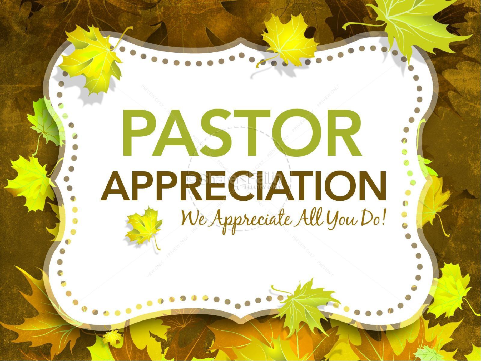 Pastor Appreciation PowerPoints