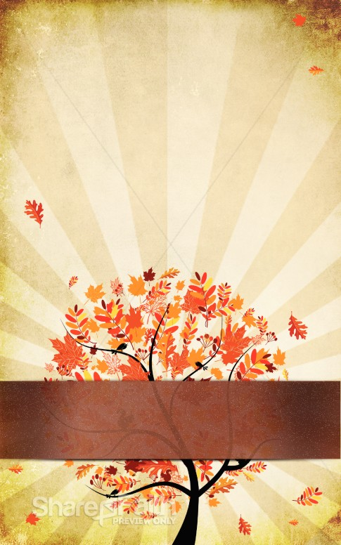 Orange Leaves Fall Bulletin Template Harvest Fall Church