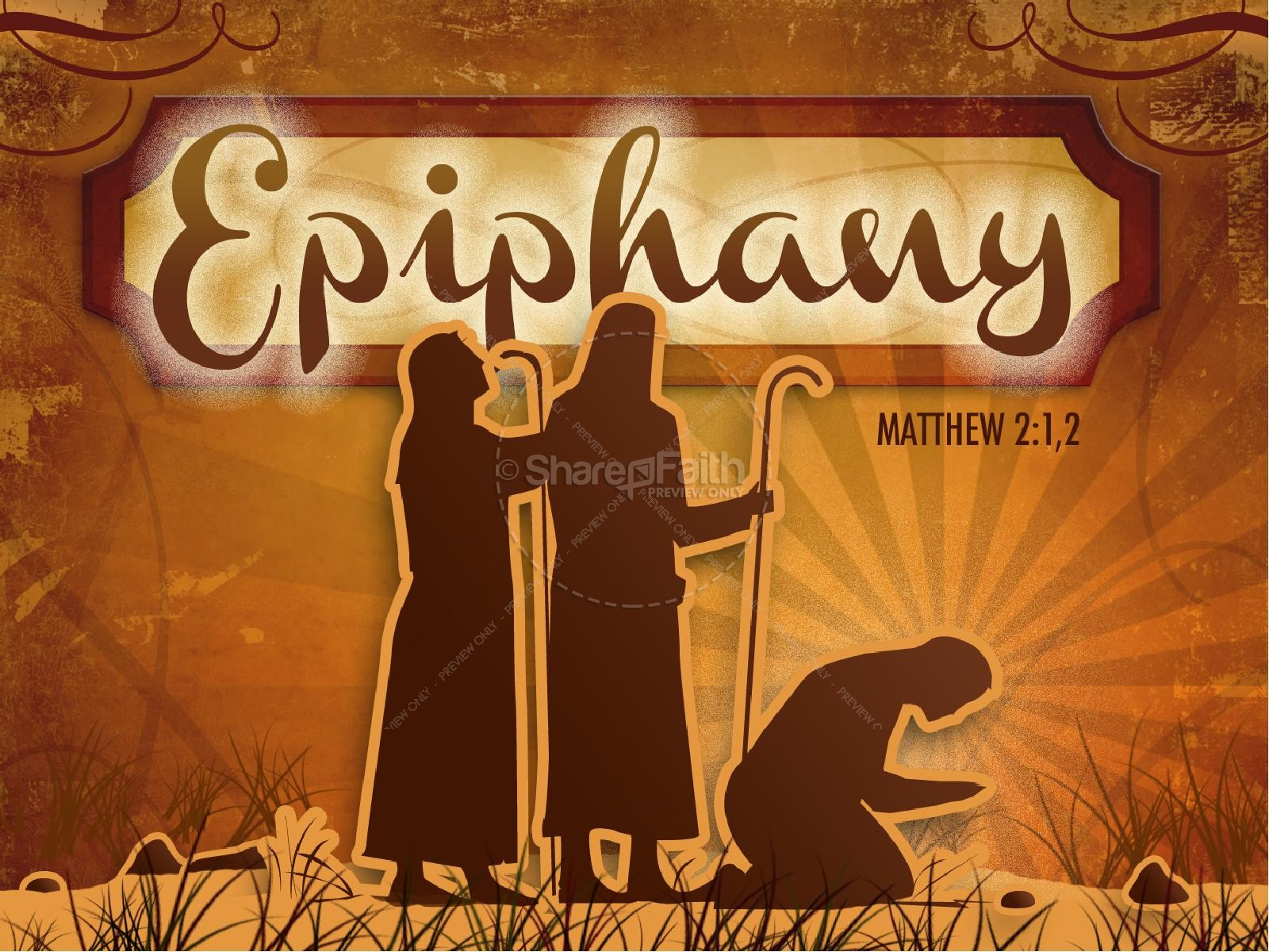 Epiphany PowerPoint Church New Year Presentations