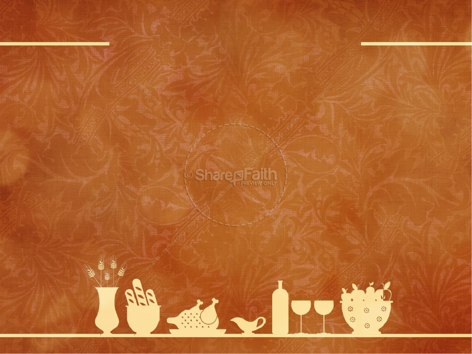 Fall Harvest Wallpaper Christian Happy Thanksgiving Event Powerpoint Template