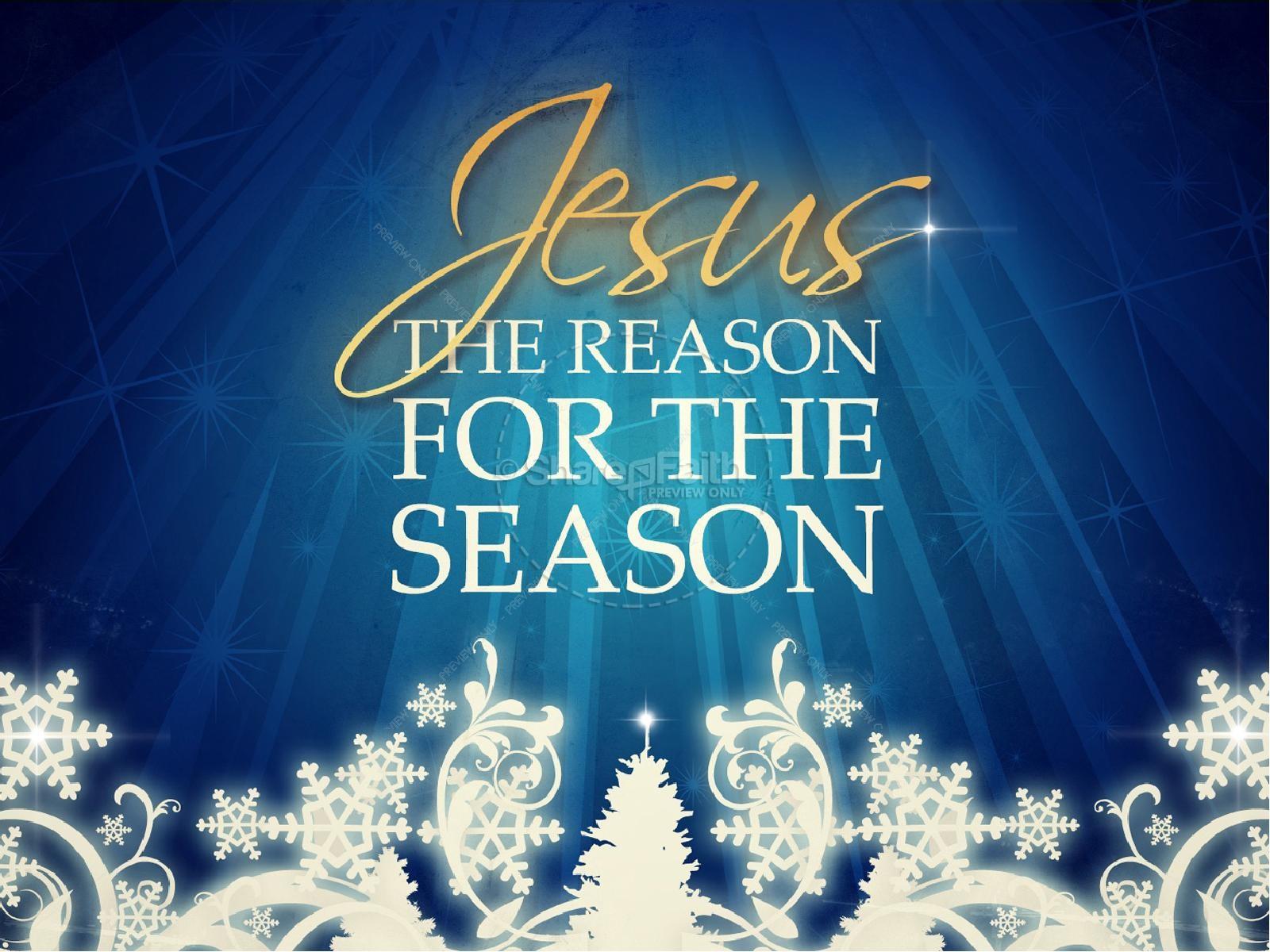 Jesus Reason For The Season Christmas PowerPoint