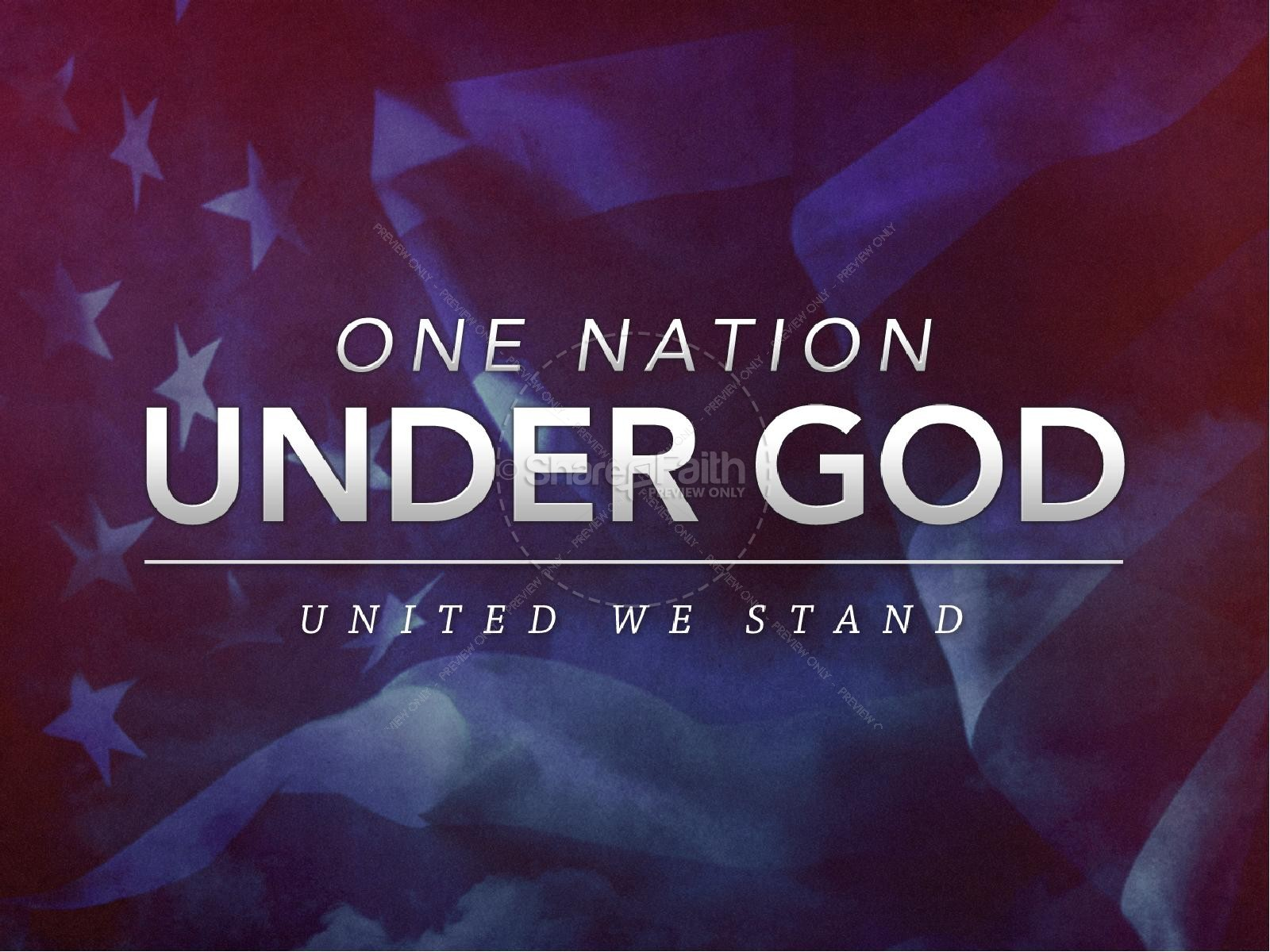 Christian Wallpaper Fall Offering One Nation Under God United We Stand Church Powerpoint