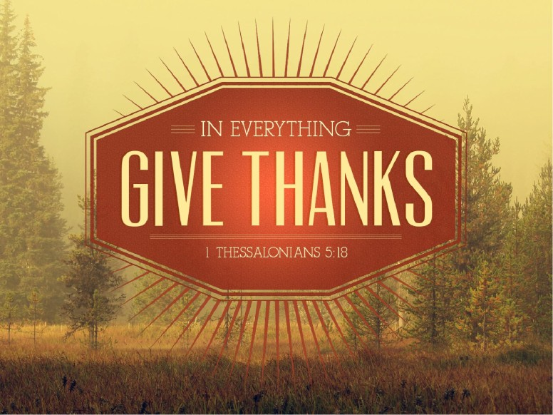 Fall Leaves Wallpaper Powerpoint Background Give Thanks In Everything Church Bulletin Cover Harvest
