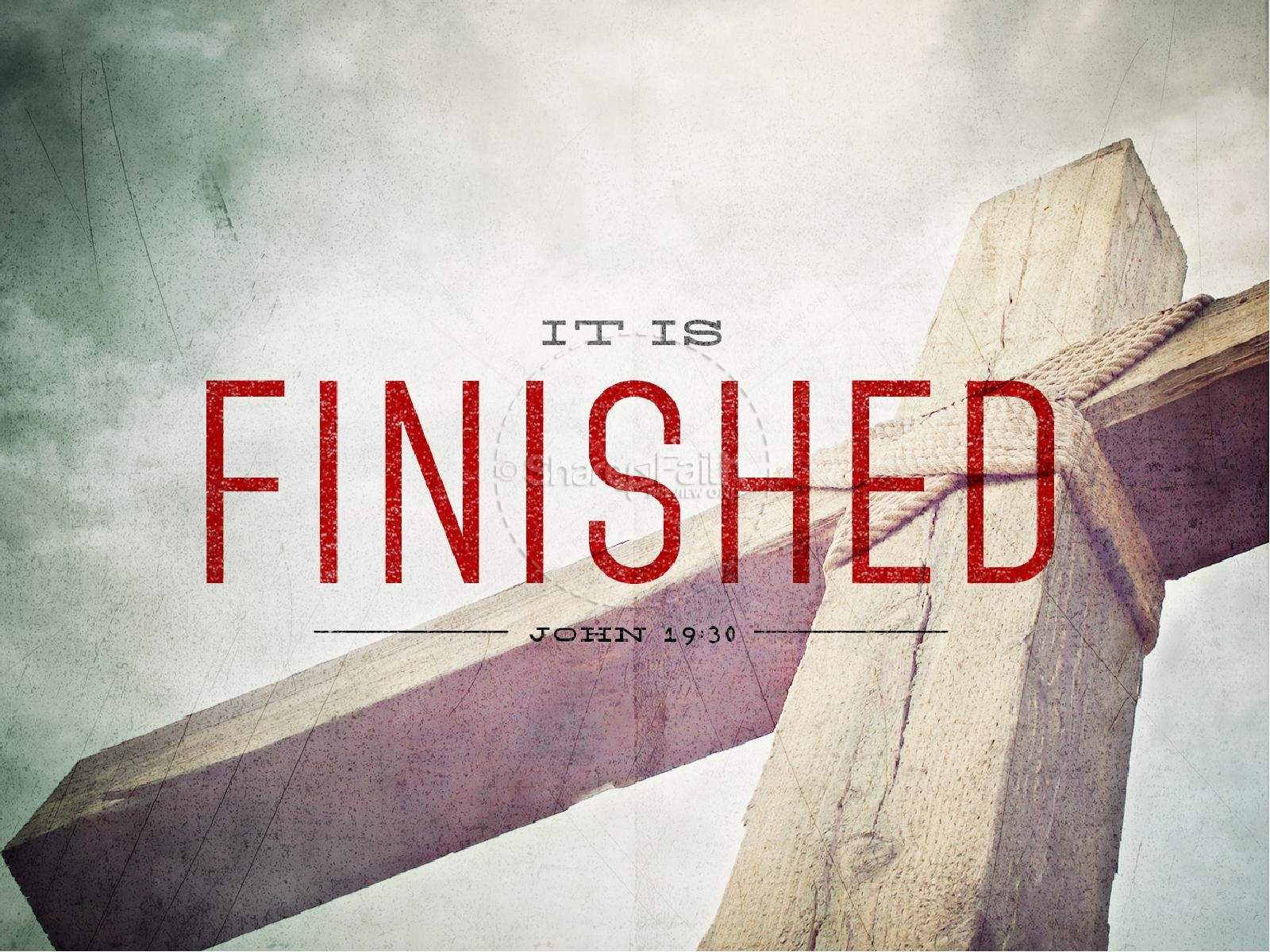 It Is Finished Easter Graphics PowerPoint