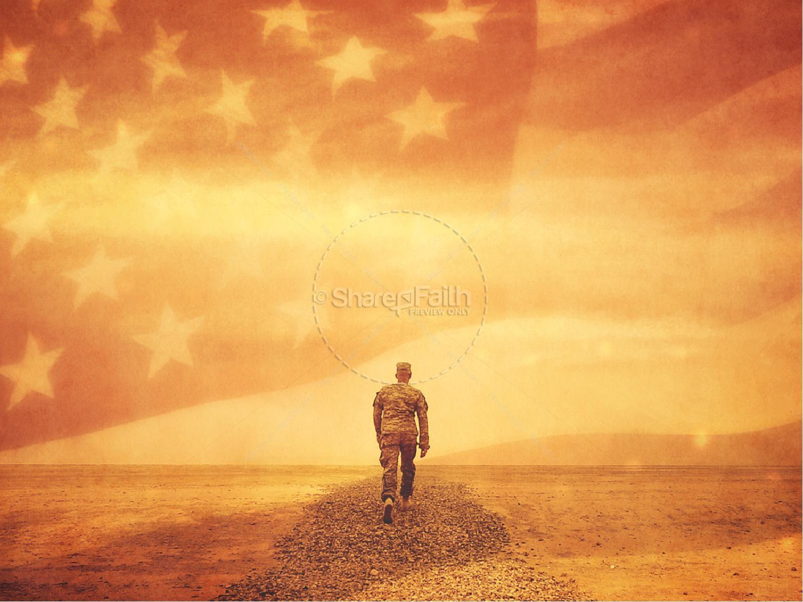 Celebrating Veterans Day Christian PowerPoint