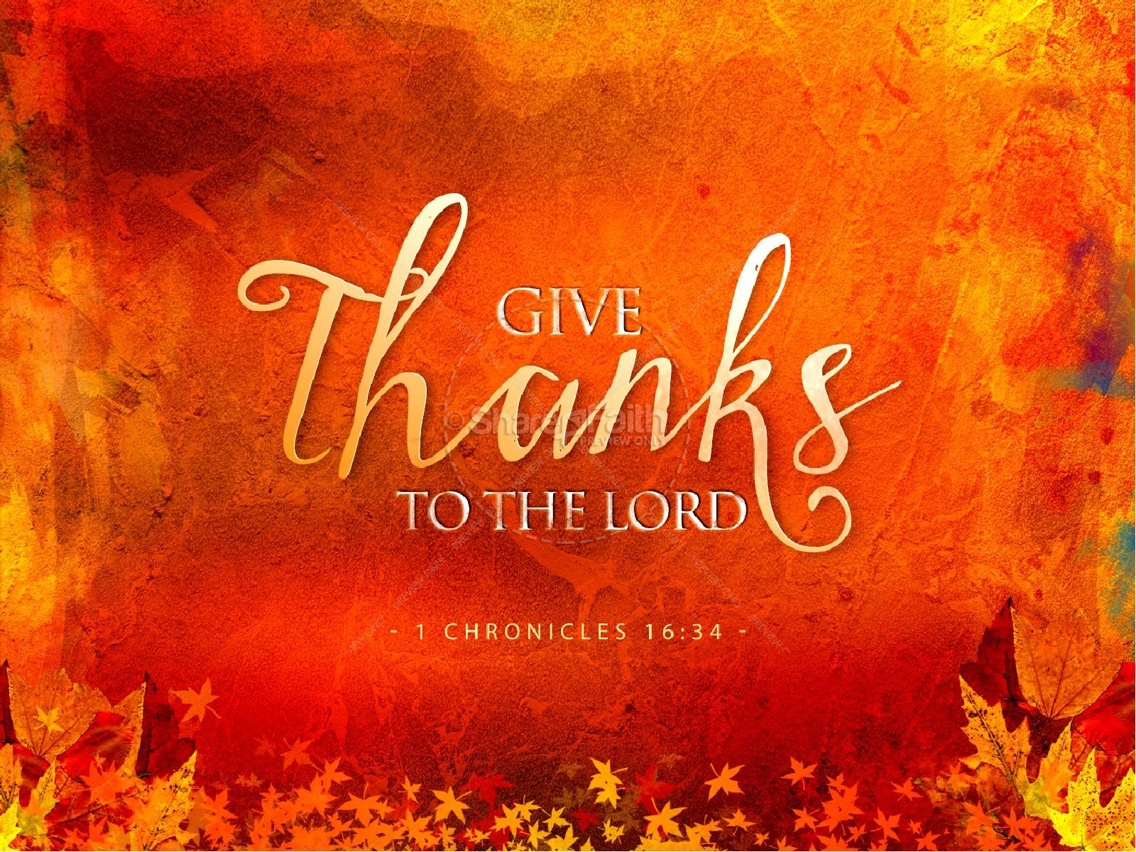 Autumn Falling Leaves Live Wallpaper Give Thanks Christian Powerpoint Template
