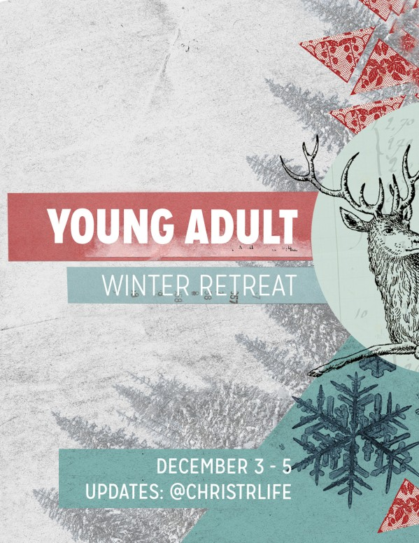Winter Retreat Christian Newsletter Template  Newsletter