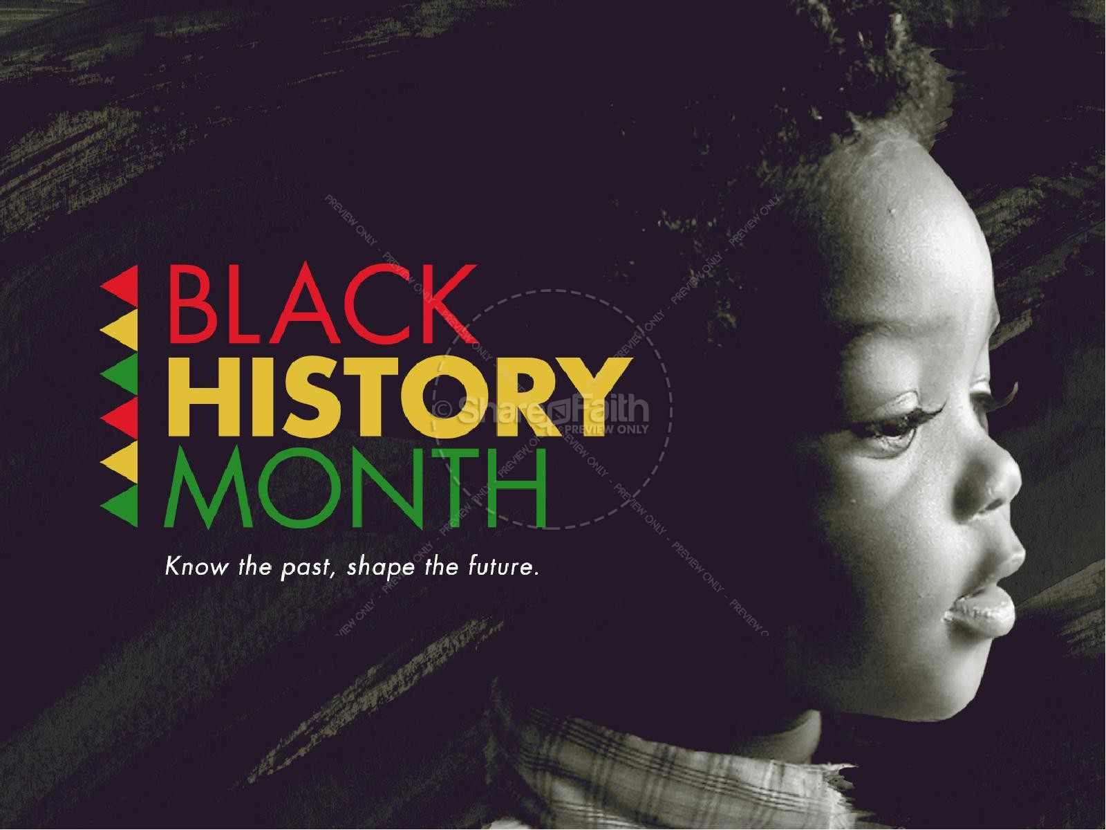 Black Template Powerpoint Month History