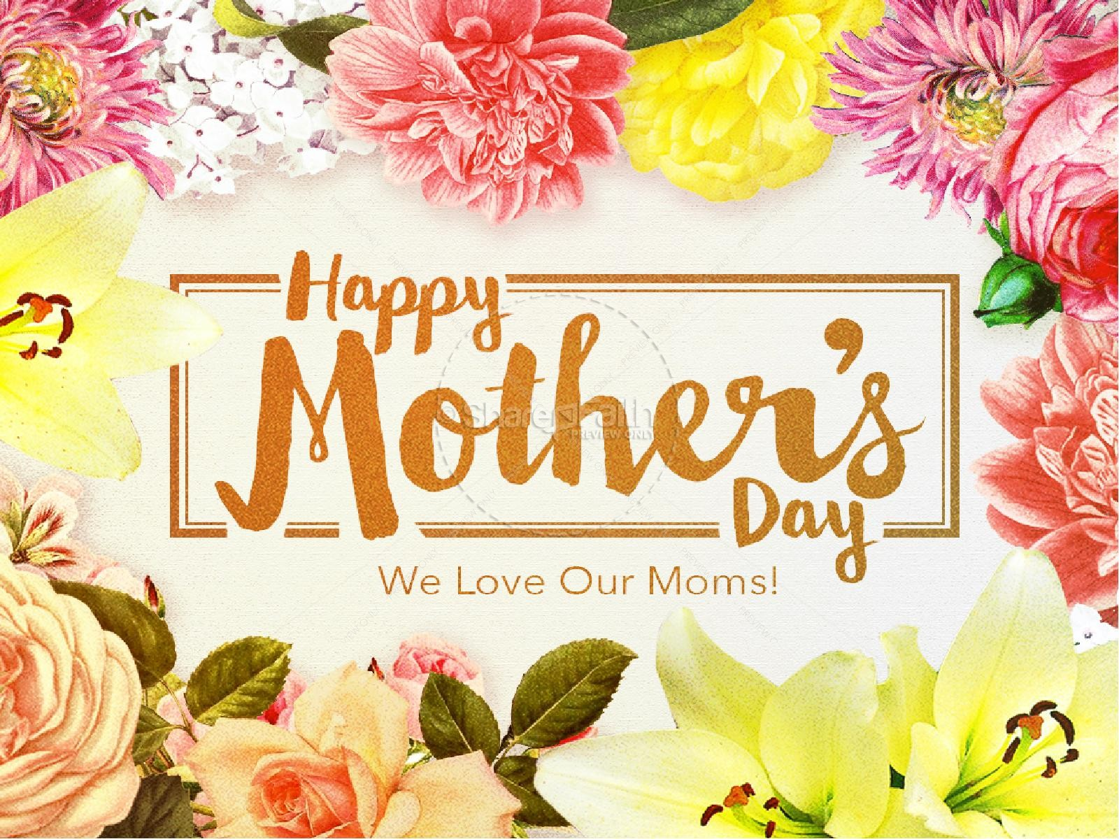 Happy Mothers Day Love Christian PowerPoint  Mothers Day PowerPoints